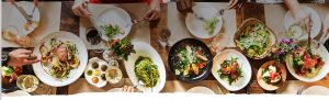 Food experience in the table